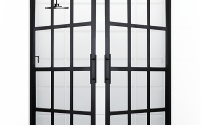 French Doors Open Up a New Look in Showers