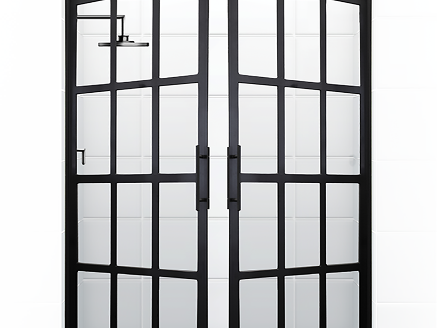 French doors open up a new look in showers homeontrack for Looking for french doors
