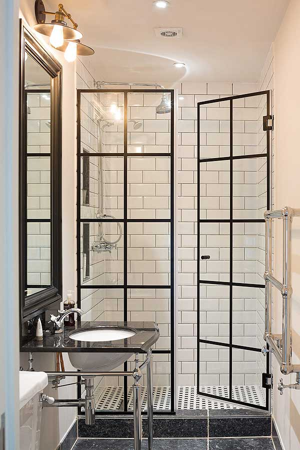 French Doors Open Up A New Look In Showers Homeontrack